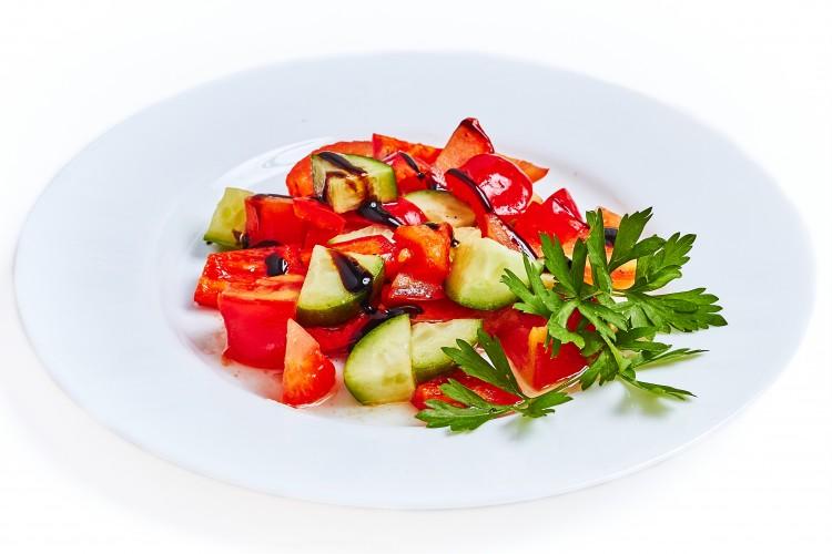 Овощной салат с бальзамическим уксусом рецепт с пошагово в